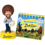 Bob Ross Bobblehead with sound & mini book