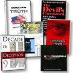 Program DVD, Decade DVD, Incontrovertible DVD, 9/11 Analysis DVD, Conspiracy book, Devil's Chessboard book