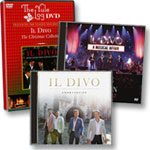 Il Divo: Amor & Pasion CD + A Musical Affair Live CD-DVD + Yule Log DVD