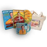 Mister Rogers: It's You I Like DVD + 4-DVD set + Mug + Tote