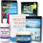 New Healthy Woman: 3 DVD's + Book +Moisturizer + Anti-Aging Elixir