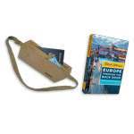 Rick Steves: Europe Through the Back Door book + Money Belt + Map + Skills DVD