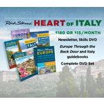 Italy Gudebook + Back Door book + DVD box set + Season 9 DVD + Travel Skills