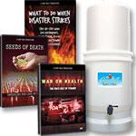 2 DVD's + 3-CD set + Ultra-Ceramic Emergency Water Filter