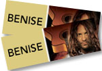 Benise: 2 tickets to see Benise at Pueblo Memorial Hall on October 4, 2018 + DVD of program