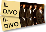 Il Divo: 2 tickets to concert at Buell Theatre on November 1, 2016 + Amor & Passion CD + Yule Log DVD