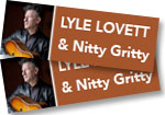 2 GENERAL ADMISSION tickets to see Lyle Lovett & The Nitty Gritty Dirt Band at Red Rocks on July 24, 2017