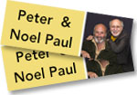 2 tickets to see Peter Yarrow & Noel Paul Stookey at the Paramount Theatre on April 8, 2016