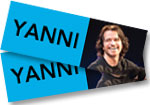 Yanni: 2 Tickets (2nd-best seats) to see Yanni at the Buell Theatre on November 9, 2017 + Live from the Pyramids CD/DVD