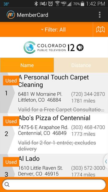 MemberCard app screenshot