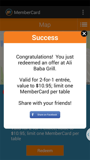 MemberCard app screenshot