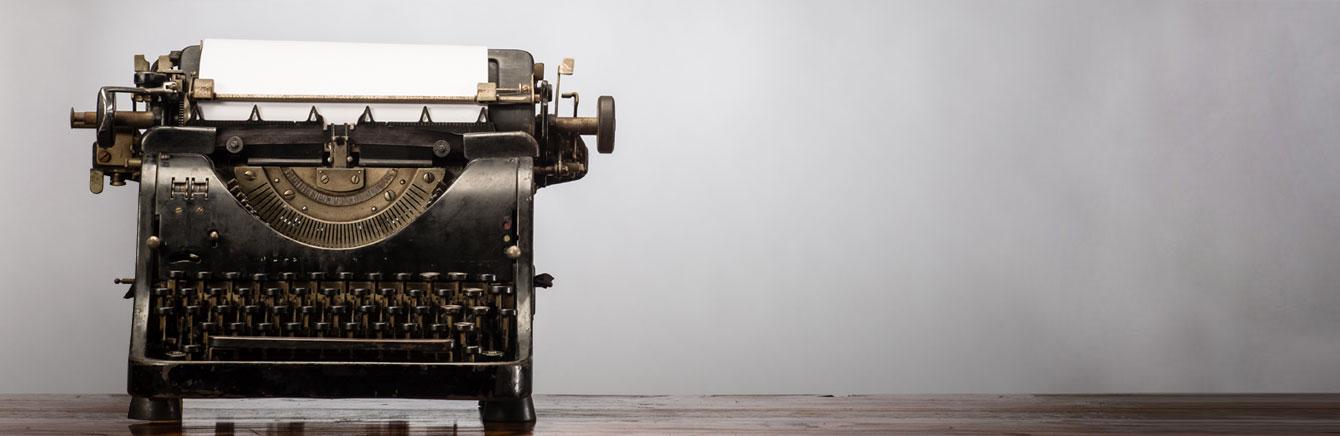 pressroom typewriter