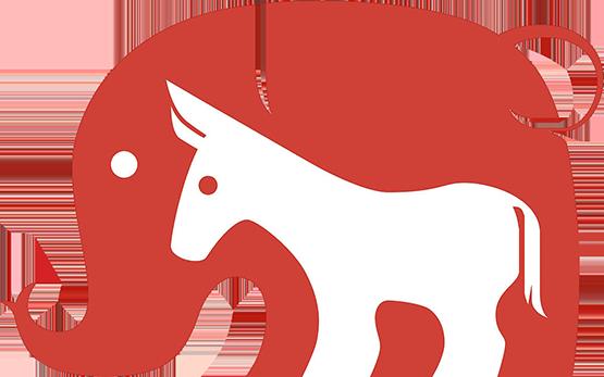 elephant & donkey symbols