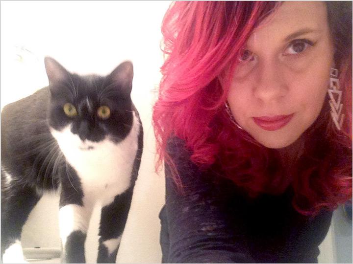 Heathr and cat